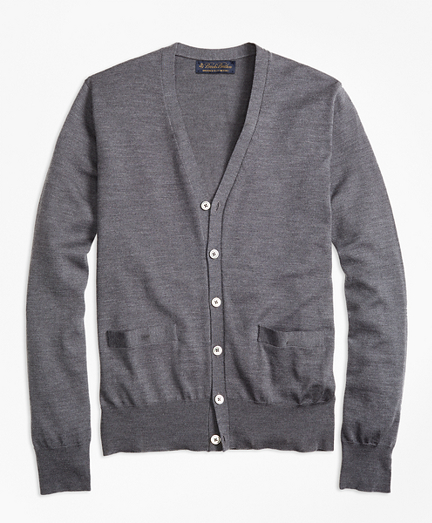 BrooksTech™ Merino Wool Button-Front Cardigan