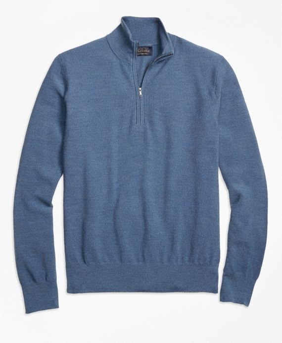 ecd6a8d8 BrooksTech™ Merino Wool Textured Half-Zip - Brooks Brothers