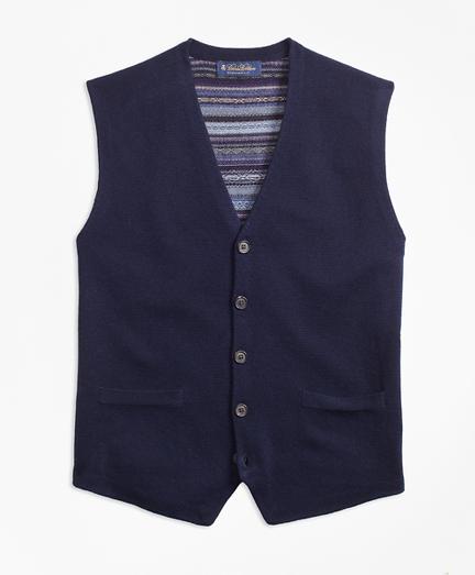 Merino Wool Fair Isle Waistcoat