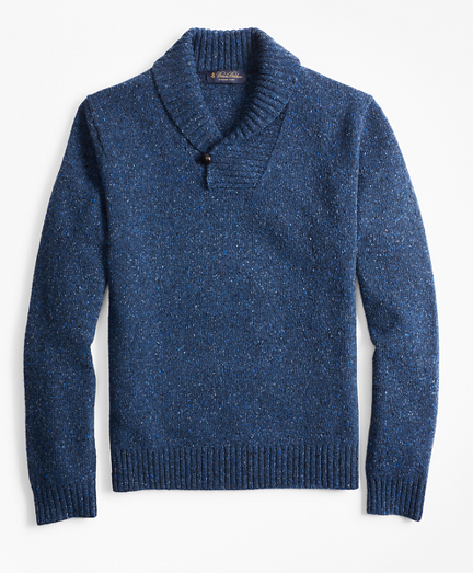 Donegal Shawl-Collar Sweater