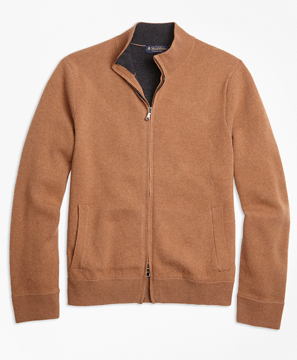 Wool and Cashmere Full-Zip Sweater