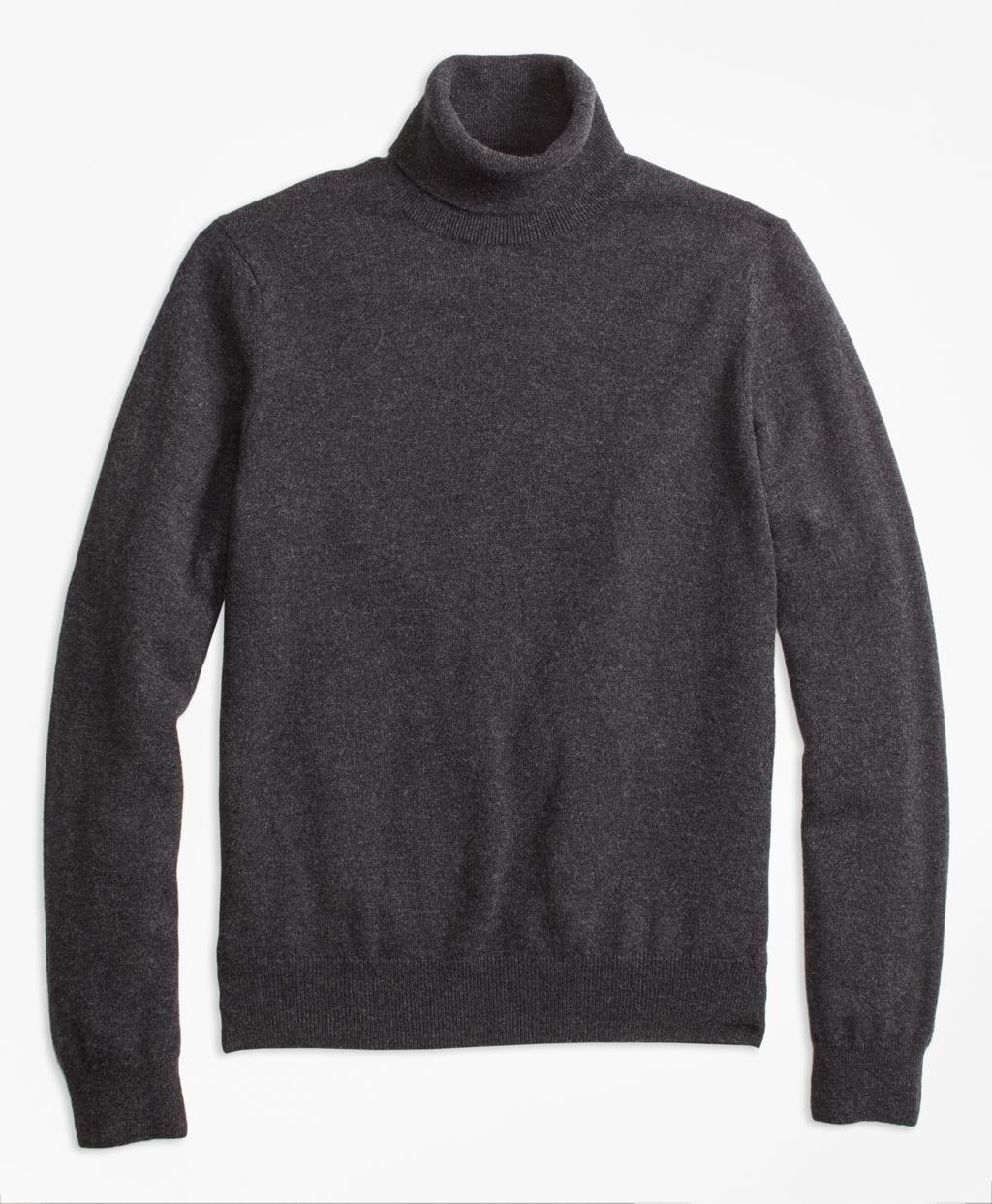 Edwardian Men's Shirts & Sweaters Brooks Brothers Mens Turtleneck Cashmere Sweater $328.00 AT vintagedancer.com