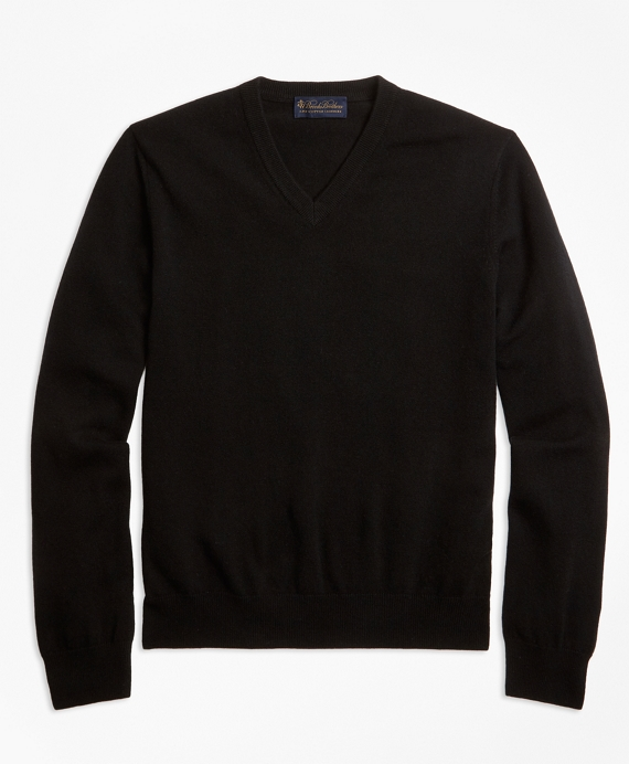 V-Neck Cashmere Sweater Black