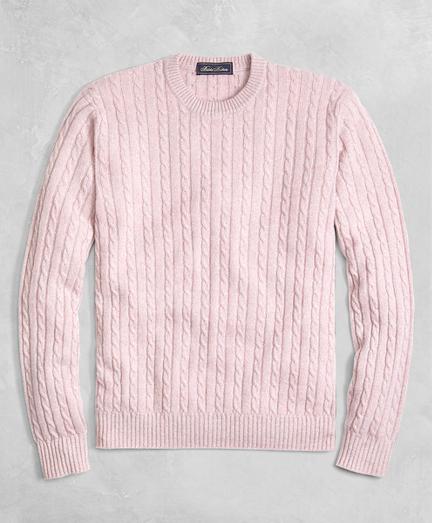 Golden Fleece® 3-D Knit Cashmere Cable Sweater