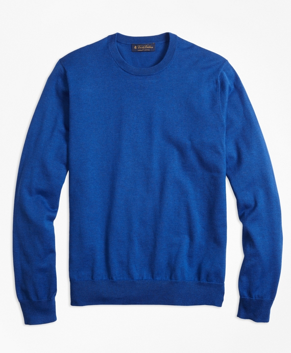 Supima® Cotton Crewneck Sweater Blue