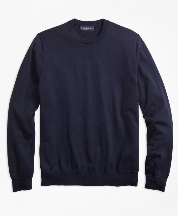 Supima® Cotton Crewneck Sweater Navy