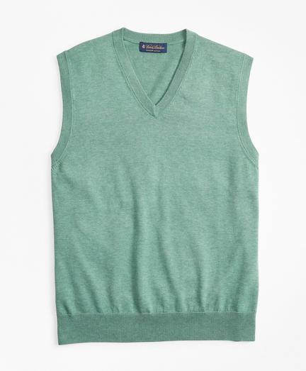 Supima® Cotton V-Neck Sweater Vest