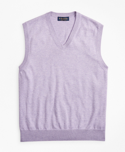 Supima® Cotton V-Neck Sweater Vest