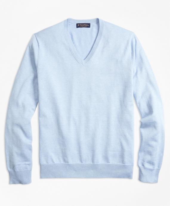 9b2c98449f Supima® Cotton V-Neck Sweater - Brooks Brothers