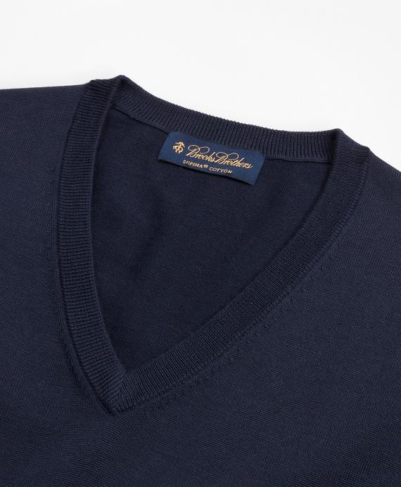 Supima® Cotton V Neck Sweater Brooks Brothers