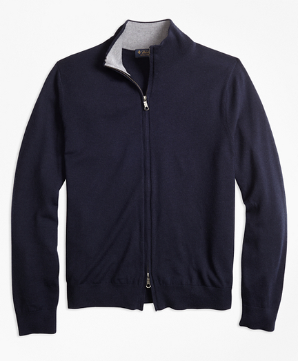 BrooksTech™ Merino Wool Full-Zip Cardigan
