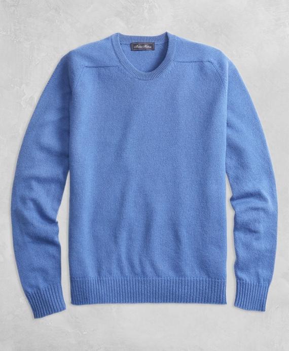 Golden Fleece® 3-D Knit Cashmere Crewneck Sweater Blue