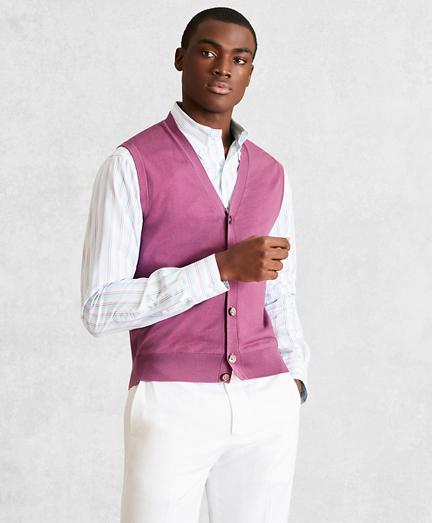 Golden Fleece® 3-D Knit Fine-Gauge Merino Button-Front Vest