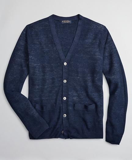 Textured Linen Cardigan