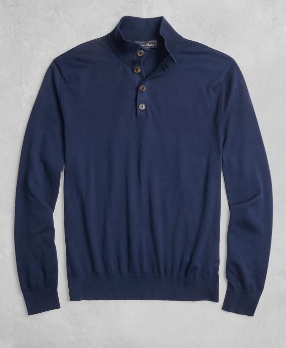 Golden Fleece® 3-D Knit Henley Navy