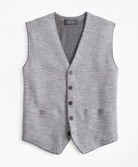 Merino Wool Sweater Waistcoat Grey