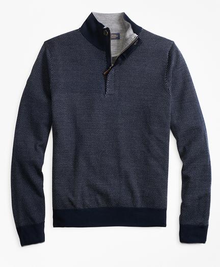 Merino Wool Twill Half-Zip