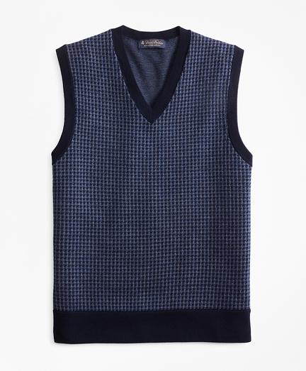 Merino Wool Houndstooth Vest