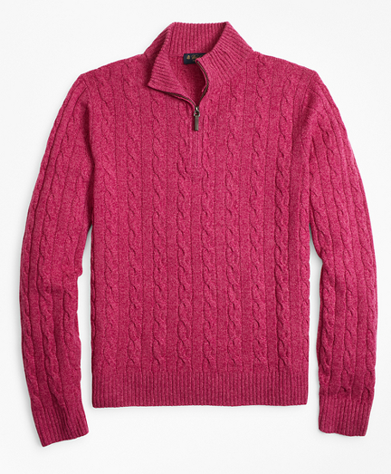 Marled Cable Half-Zip