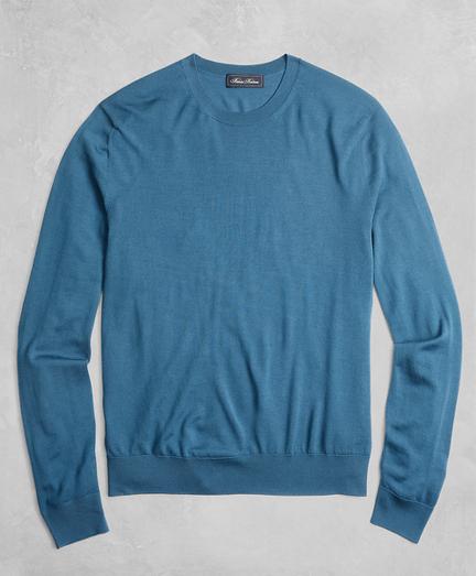 Golden Fleece® 3-D Knit Fine-Gauge Merino Crewneck Sweater