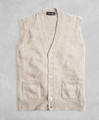Golden Fleece® 3-D Knit Marled Alpaca-Blend Button Vest