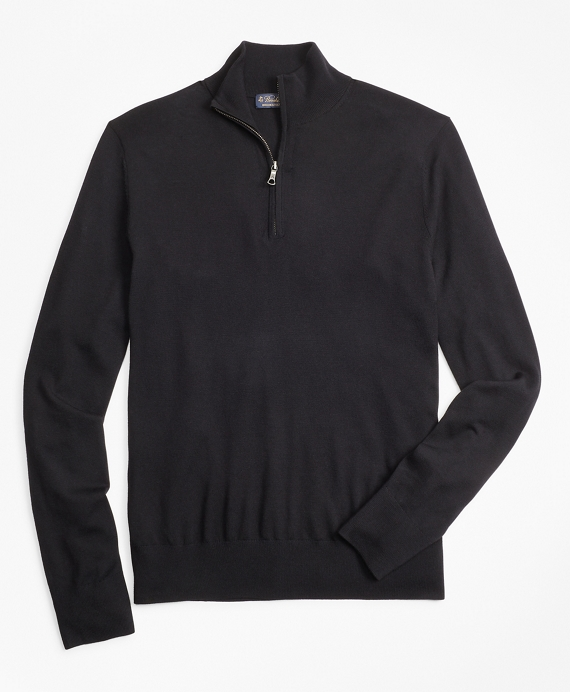 BrooksTech™ Merino Wool Half-Zip Sweater Black