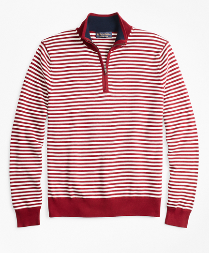 Yacht Stripe Half-Zip Sweater