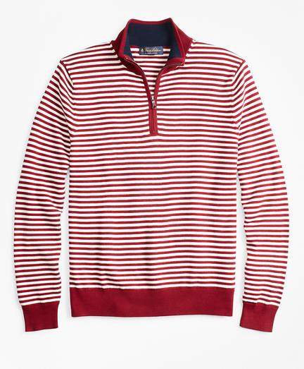 Yacht Stripe Half-Zip Sweater