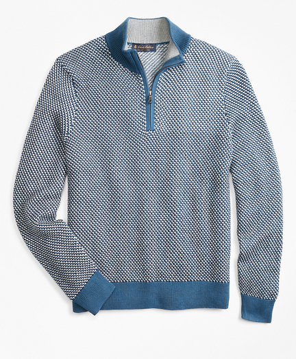Jacquard Half-Zip Sweater