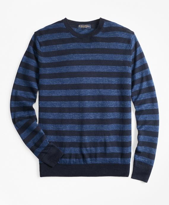 Stripe Crewneck Sweater Blue