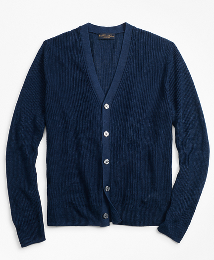 Clothing, Shoes & Accessories Brooks Brothers Ltd Edition Navy Blue Cashmere Silk Button Down Polo Sweater S