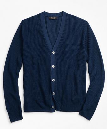 Linen Shaker Stitch Cardigan