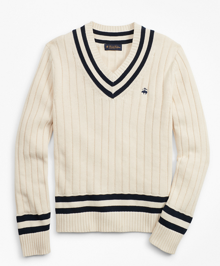 Tennis V-Neck Sweater