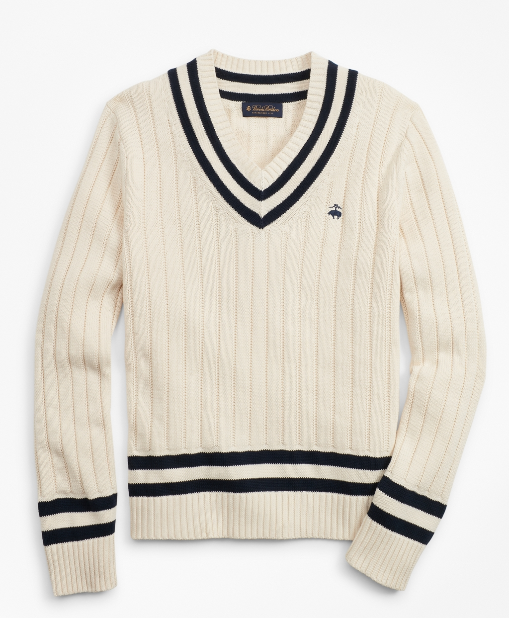 1920s Mens Sweaters, Pullovers, Cardigans Brooks Brothers Mens Tennis V-Neck Sweater $49.25 AT vintagedancer.com