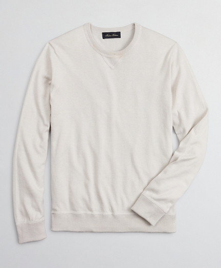 Golden Fleece® 3-D Knit Cotton-Cashmere-Silk Crewneck Sweater