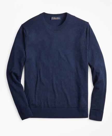 Printed Paisley Crewneck Sweater