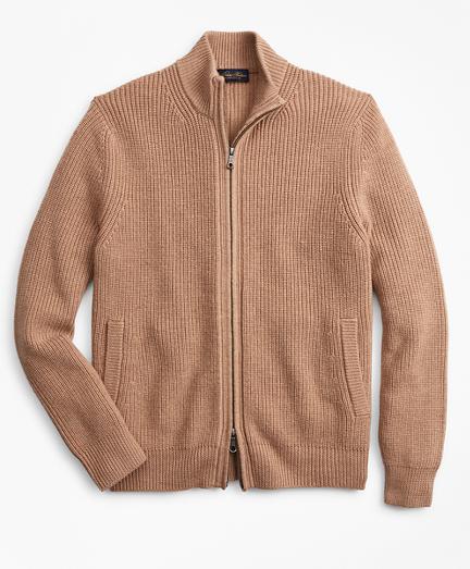 Washable Merino Wool Full-Zip Sweater