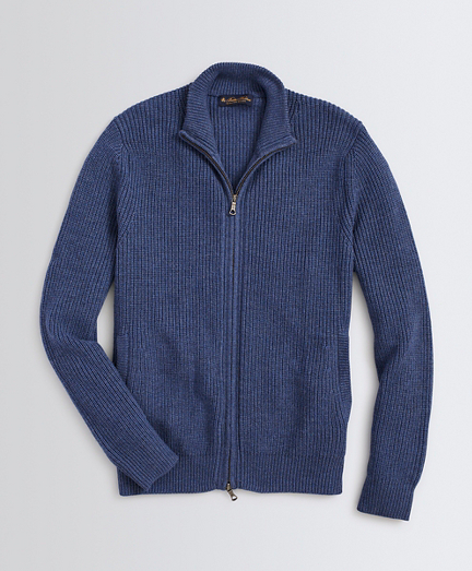 Washable Merino Wool Full-Zip Sweater