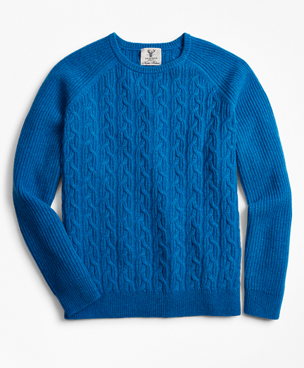 Limited Edition Braemar™ Shetland Cable Crewneck Sweater