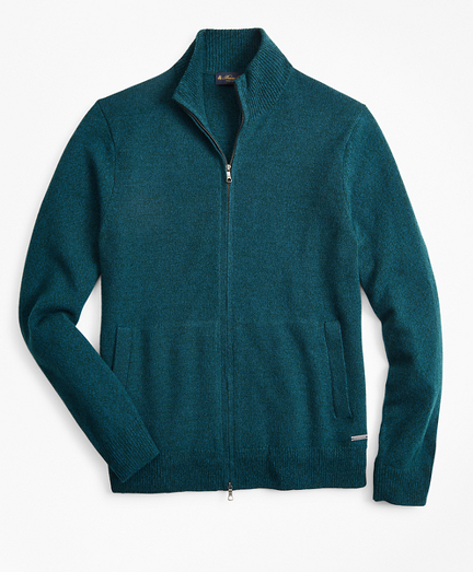 Marled Full-Zip Sweater