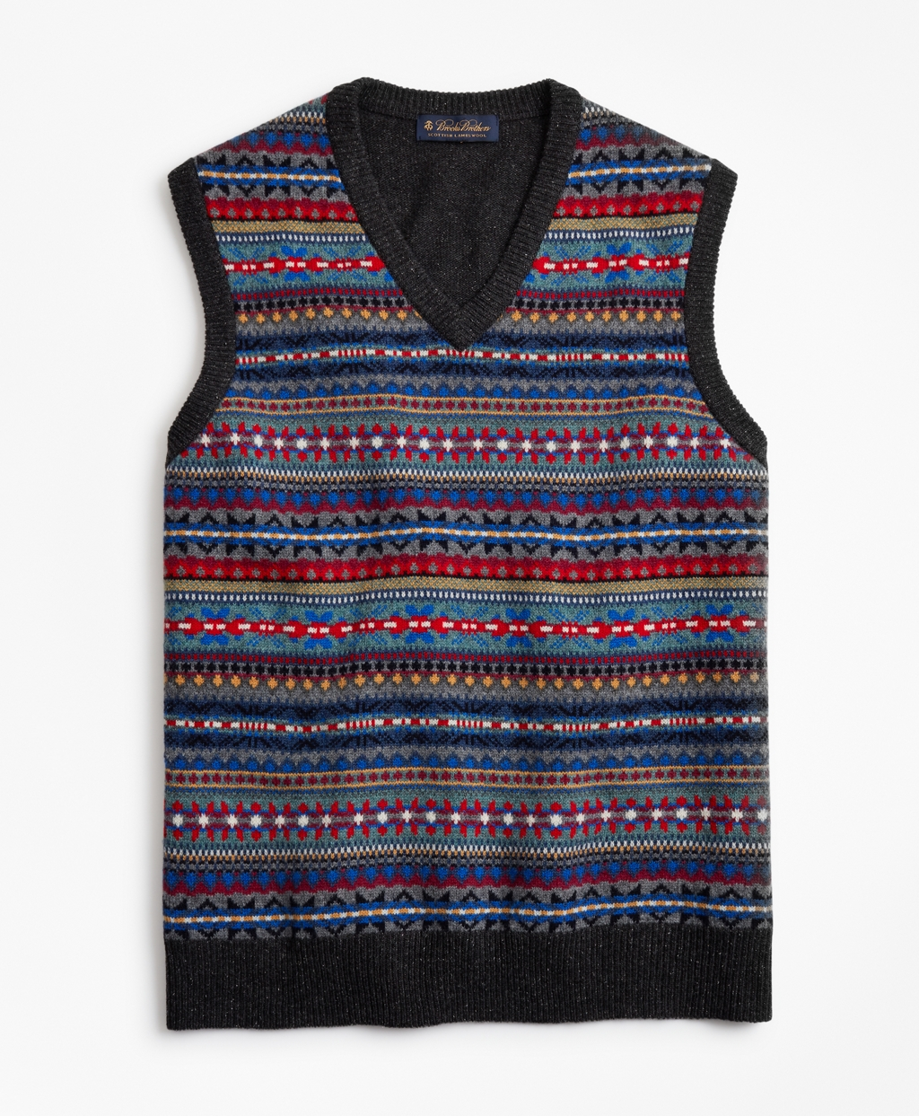 Retro Clothing for Men | Vintage Men's Fashion Brooks Brothers Mens Fair Isle Vest $89.60 AT vintagedancer.com