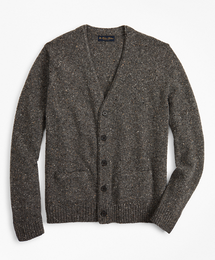 Merino Wool Donegal Rollneck Cardigan