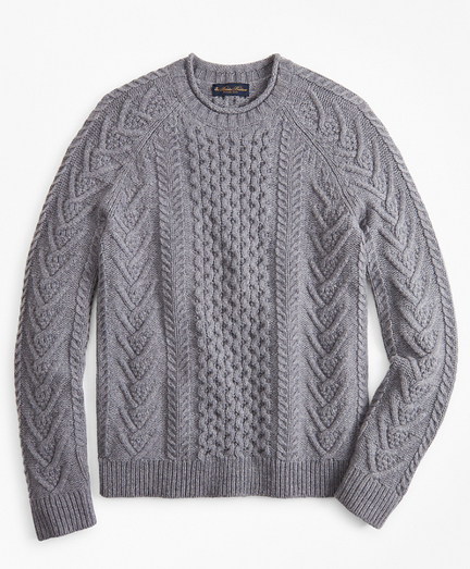 Merino Wool Fisherman Sweater