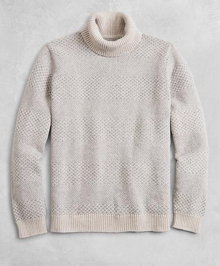 Golden Fleece® Wool-Cashmere Striped Turtleneck Sweater