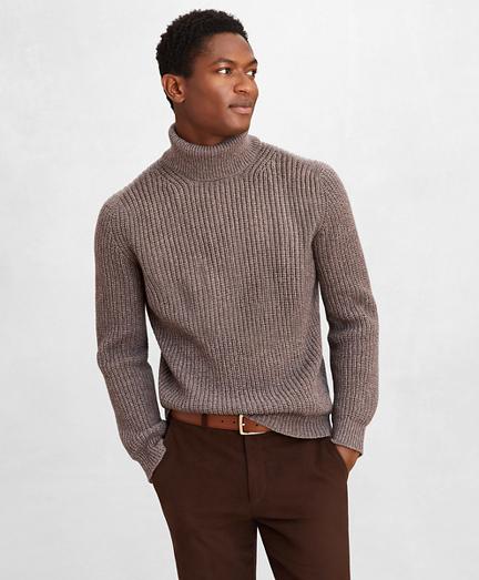 Golden Fleece® Wool-Cashmere Turtleneck Sweater
