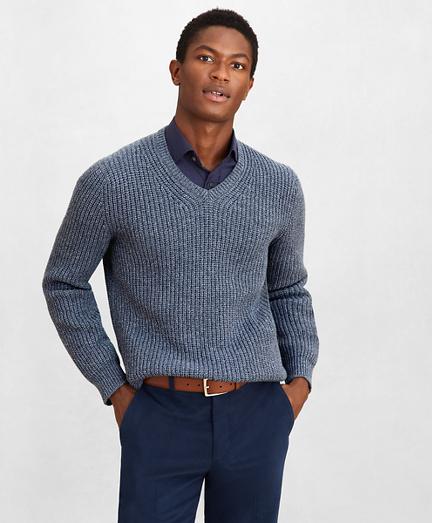 Golden Fleece® Wool-Cashmere V-Neck Sweater