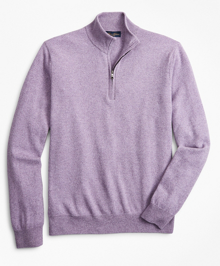 Two-Ply Cashmere Half-Zip Sweater