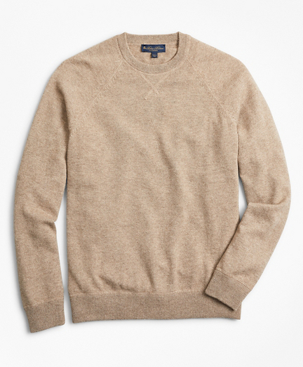 Two-Ply Cashmere Raglan Crewneck Sweater