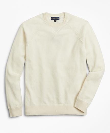Two-Ply Cashmere Raglan Crewneck Sweater