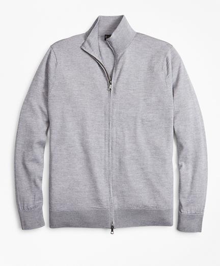 BrooksTech™ Merino Wool Full-Zip Sweater